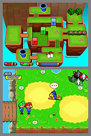 Mario & Luigi : Partners In Time in-game