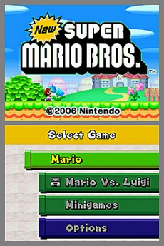 New Super Mario Bros. in-game