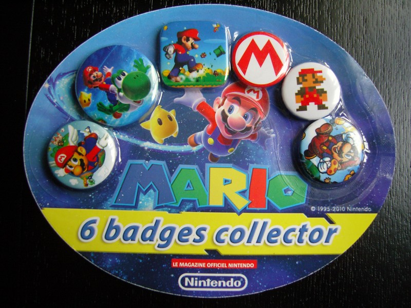 Collection de badges Nintendo (offerts avec le magazine officiel)