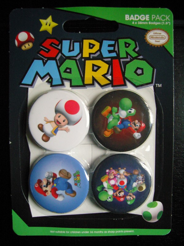 Badges Super Mario
