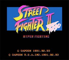 Street Fighter II Turbo in-game