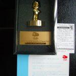 Statuette dorée Mario – Club Nintendo Japon (2004)
